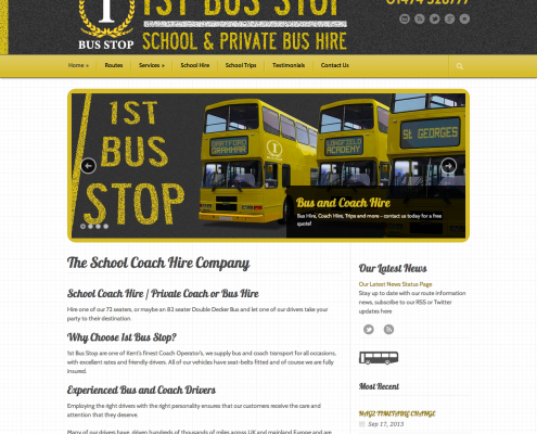 1st Bus Stop Website
