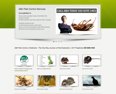 A&H Pest Control Website