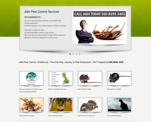 A&H Pest Control Website