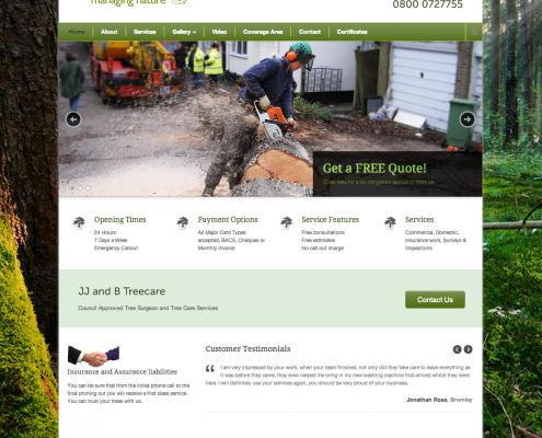 JJ and B Treecare Website