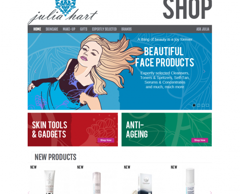 Julia Hart Shop Website